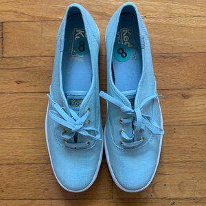 Keds Shimmery Blue Ortholite Sneakers
